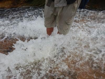 מים עד הברכיים!