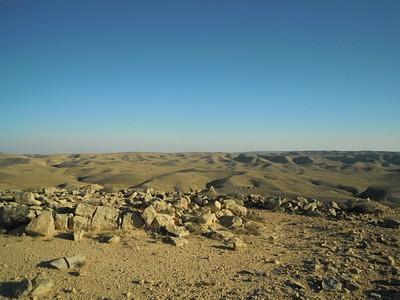 הנוף הנשקף מפסגת הר רמון (לכיוון דרום)