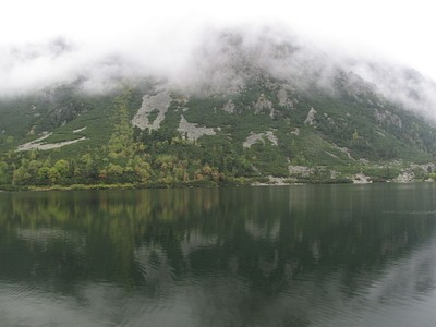 Popradske Pleso- אחרי 13, מעונן כרגיל.