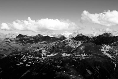 הנוף מהCorne De Serbois