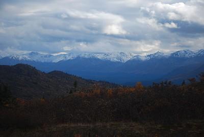 הנוף כשיורדים מהאזור הסאב אלפיני