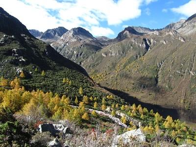 הנוף מהטיפוס לכיוון העמק