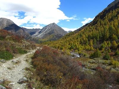מבט מהעמק אחורה לכיוון צפון