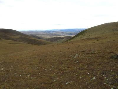 הגבעה החצויה במרכז התמונה - צריך קצת להגדיל כדי לראות את השביל עובר