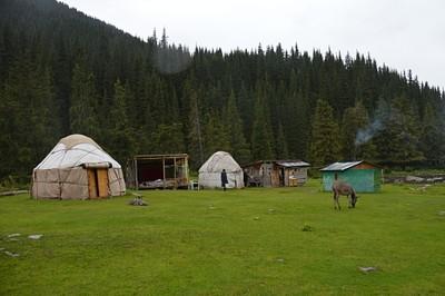 מחנה היורטות בו ישנו