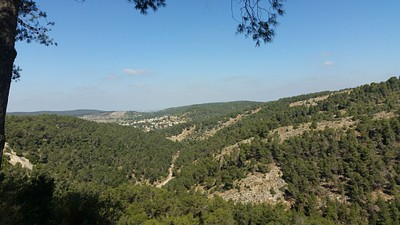 הנוף משביל העלייה ממערת בני ברית