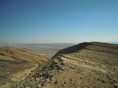 הנוף שנשקף מפסגת המצלעה (לכיוון מזרח)