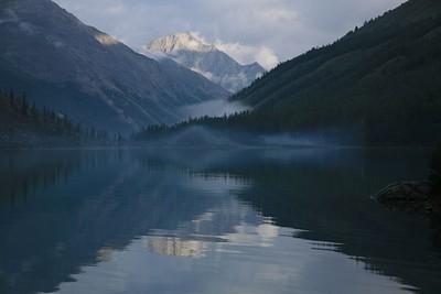 אגם שבלה בשקיעה