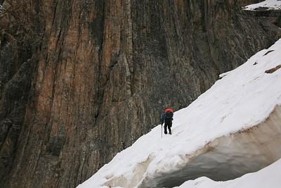 ירידה איטית על הקרחון