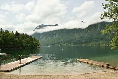 אגם בוהין אחרי הגשם
