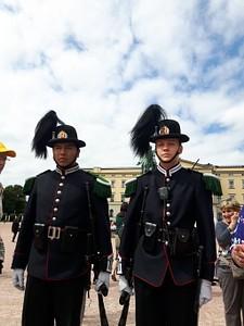 משמר הכבוד בכניסה לארמון המלך
