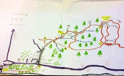 מפה סכמטית של המסלול