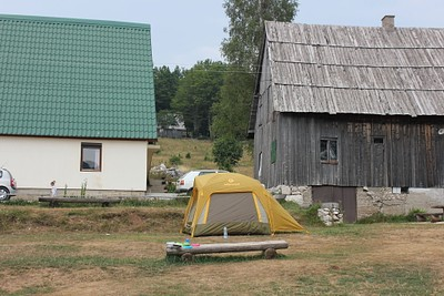 קמפינג בכניסה לשמורת הדורמיטור