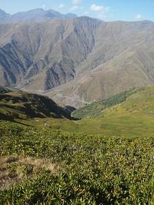 מבט מהרכס הדרומי על הדרך הצבאי