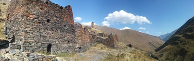 חורבות Chontio בדרך אל Girevi