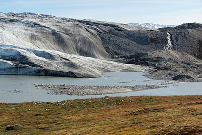 Reindeer Glacier, בדרך לכיפת הקרח.