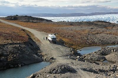 בדרך אל כיפת הקרח של גרינלנד.