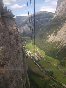 הרכבל למטה לstechelberg