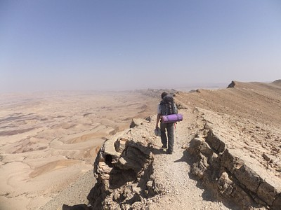 הליכה לא סימפטית, אך משתלמת. הר כרבולת והמכתש הגדול