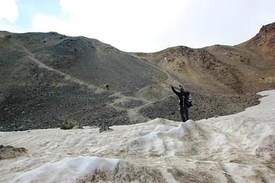 13- הקרחון מתחתת לירידה התלולה