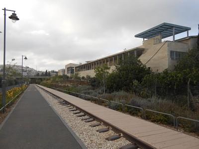 המסלול בסמוך לתיכון הדו-לשוני
