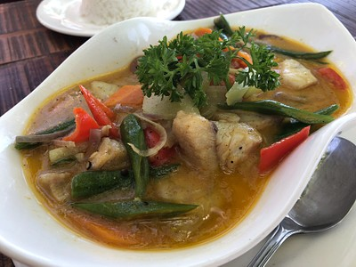 FIsh Curry מצוין ב- Ocean Vida