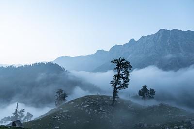 הנוף בhimalayan quest camp