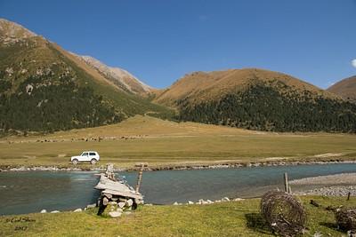 עמק Turgenaksu ודרך העפר