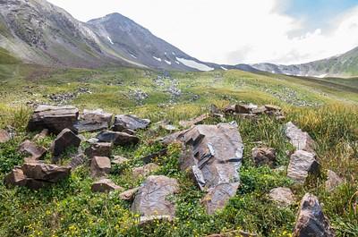 מבט אל כיוון המורנה במעלה העמק, היכן שהאתר המרכזי נמצא