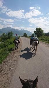 הליכה על הכביש בין הכפרים