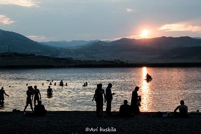 שקיעה באגם ליסי