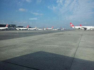 בשדה התעופה באיסטנבול. נדמה שהוא שייך לטורקיש ארליינס בלבד.