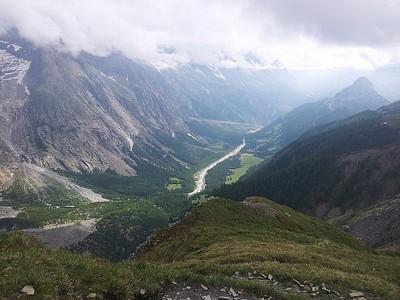 נוף Val Veny טיפוסי.