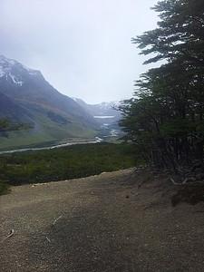 הנוף לכיוון הלגונה, הקרחון והפס