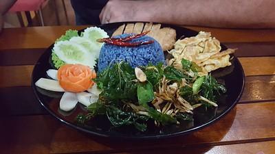 אורז כחול במסעדה בלו רייס