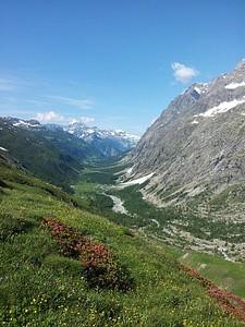הנוף עם תחילת העליה לפס Grand del Ferret