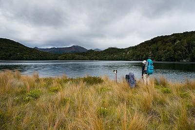 והאגם Island Lake - גם כאן לא מצאנו דגים...