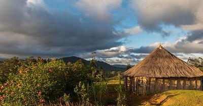 מבט מערבה מהכפר Raipinka.