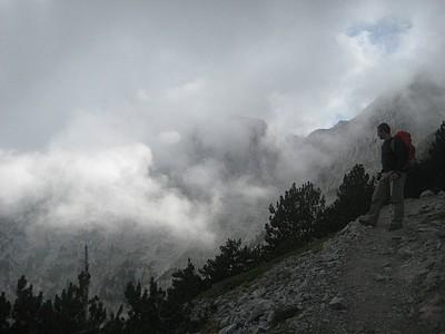 העננים המכסים את הפסגה אחרי הצהריים