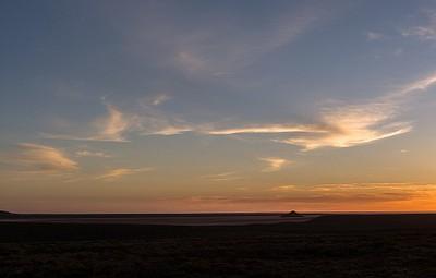 הנוף מנקודת עצירה לילית לאורך ה-Stuart Hwy, דרום אוסטרליה.
