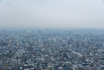 הנוף מהפסגה על העיר