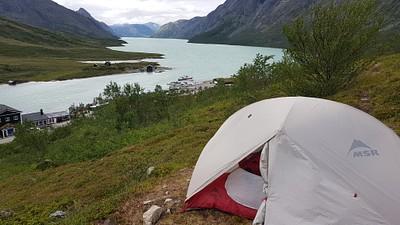האוהל מתחת ל Besseggen