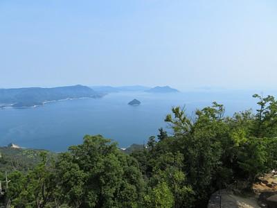 הנוף מפסגת הר Misen