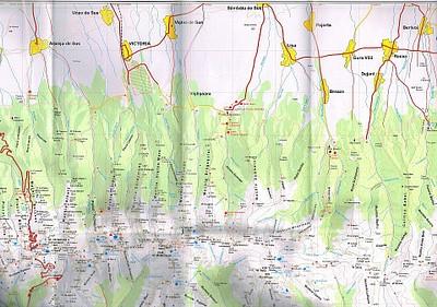מפה של אזור הטרק בו טיילנו של רכס הפאגארש