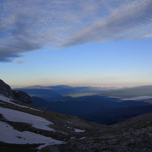 הנוף מבקתת אסטרקה לכיוון הדרך שעשינו