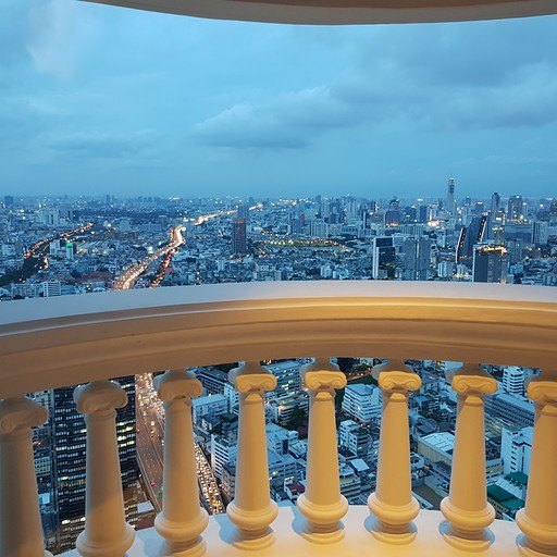 הנוף מהחדר קומה 58 מלון Tower Club At lebua