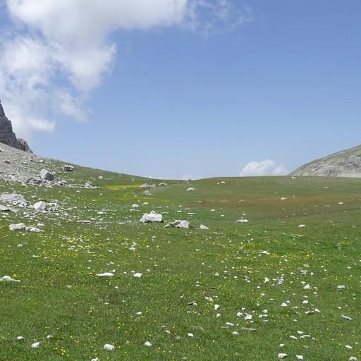 אחו יפה אחרי הירידה מפסגת הר אסטרקה - היום השני