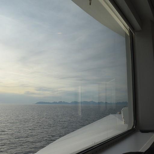 הנוף מחלון המעבורת