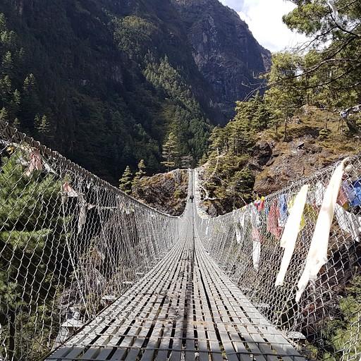 אחד הגשרים בדרך, את הפחד גבהים משאירים מאחורה, זכות קדימה ליאקים על הגשר :)