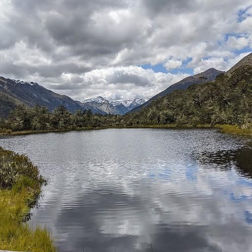 האגם בתחילת המסלול